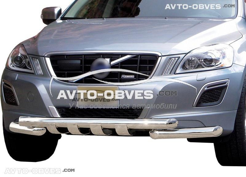 Защита переднего бампера модельная для Вольво XC60