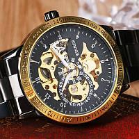 Часы наручные  мужские WINNER  Gold Skeleton mod064