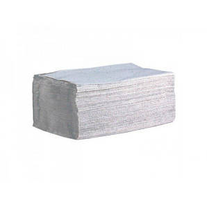 Полотенце бумажное серое 1 слой ZZ сложение 170 шт/уп, 23х25 см. Украина