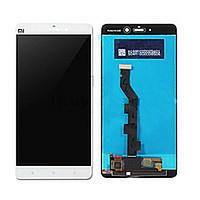 Дисплей (экран) для Xiaomi Mi Note с сенсором (тачскрином) белый