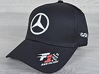 """Кепка мужская """"Mercedes"""". Размер 57-59 см. Черная. Оптом и в розницу."""
