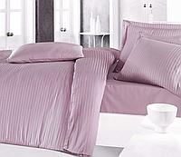 Комплект постельного белья  Clasy сатин Strip размер евро Lila