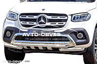 Защита нижнего бампера штатная для Mercedes-Benz X class (2017 - ...)