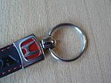 Брелок хлястик Honda 110мм черный эмблема Хонда красная автомобильный на авто ключи, фото 4
