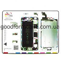Магнитный мат MECHANIC iP6 Plus для раскладки винтов и запчастей при разборке iPhone 6 Plus