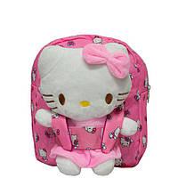 Рюкзак с игрушкой Hello Kitty 4808 Розовый (28*22*7) купить оптом со склада