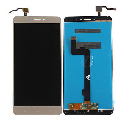 Дисплей (экран) для Xiaomi Mi Max 2 с сенсором (тачскрином) золотистый, фото 2