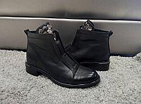 Ботинки женские натуральная кожа чёрные