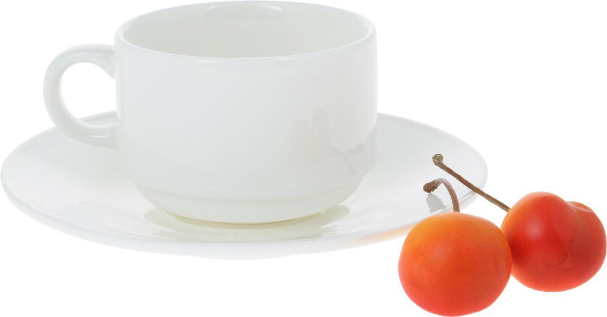 Кофейная чашка и блюдце 140мл. Wilmax WL-993039