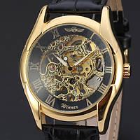 Часы наручные мужские WINNER Gold Skeleton mod087