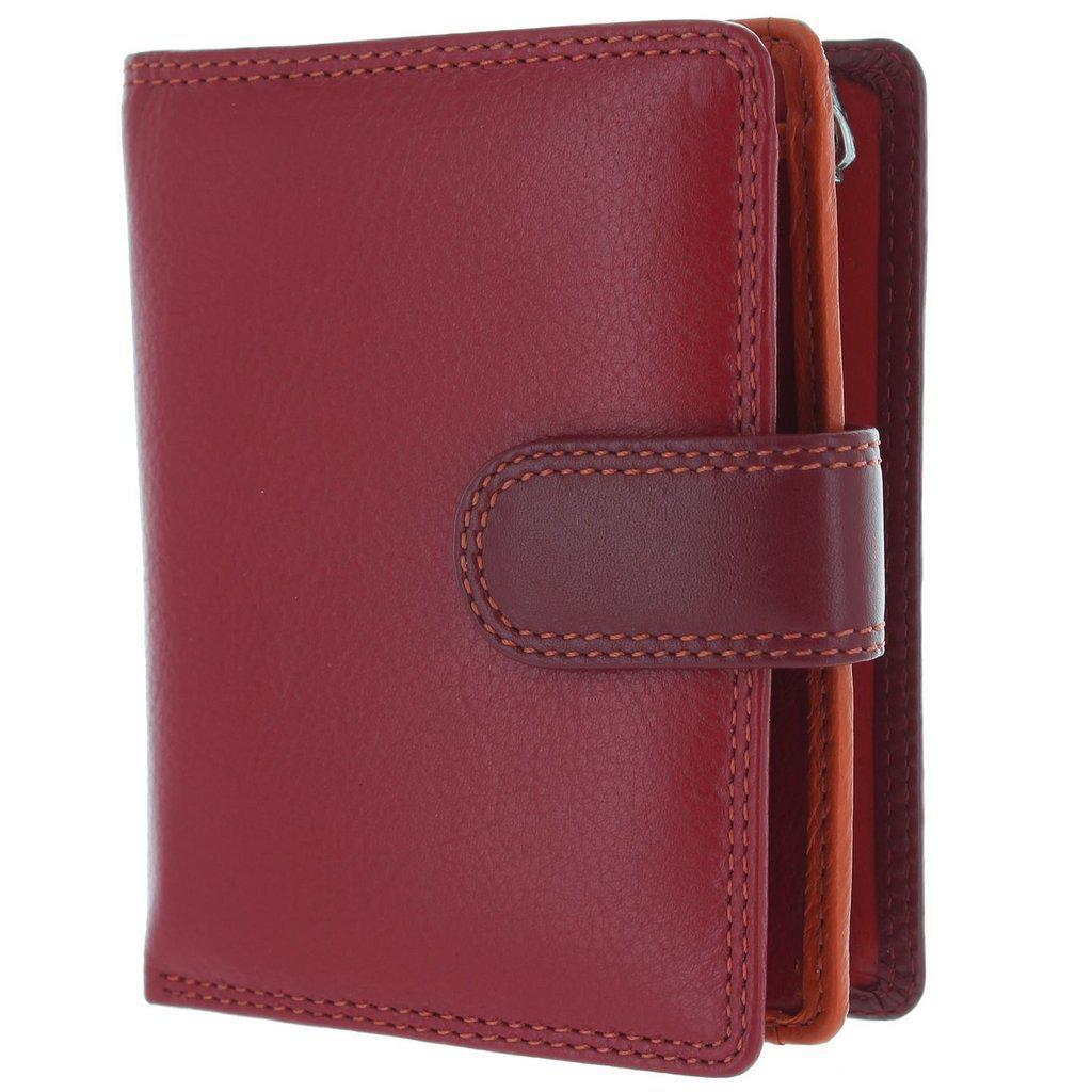 Женский кошелек кожаный красный Visconti RB-40 Red Multi