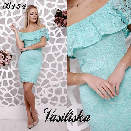 Гипюровое платье с воланами ан-180370, фото 2