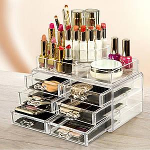 Органайзер для косметики Cosmetic Box 6 Drawer Акриловый органайзер для косметики настольный