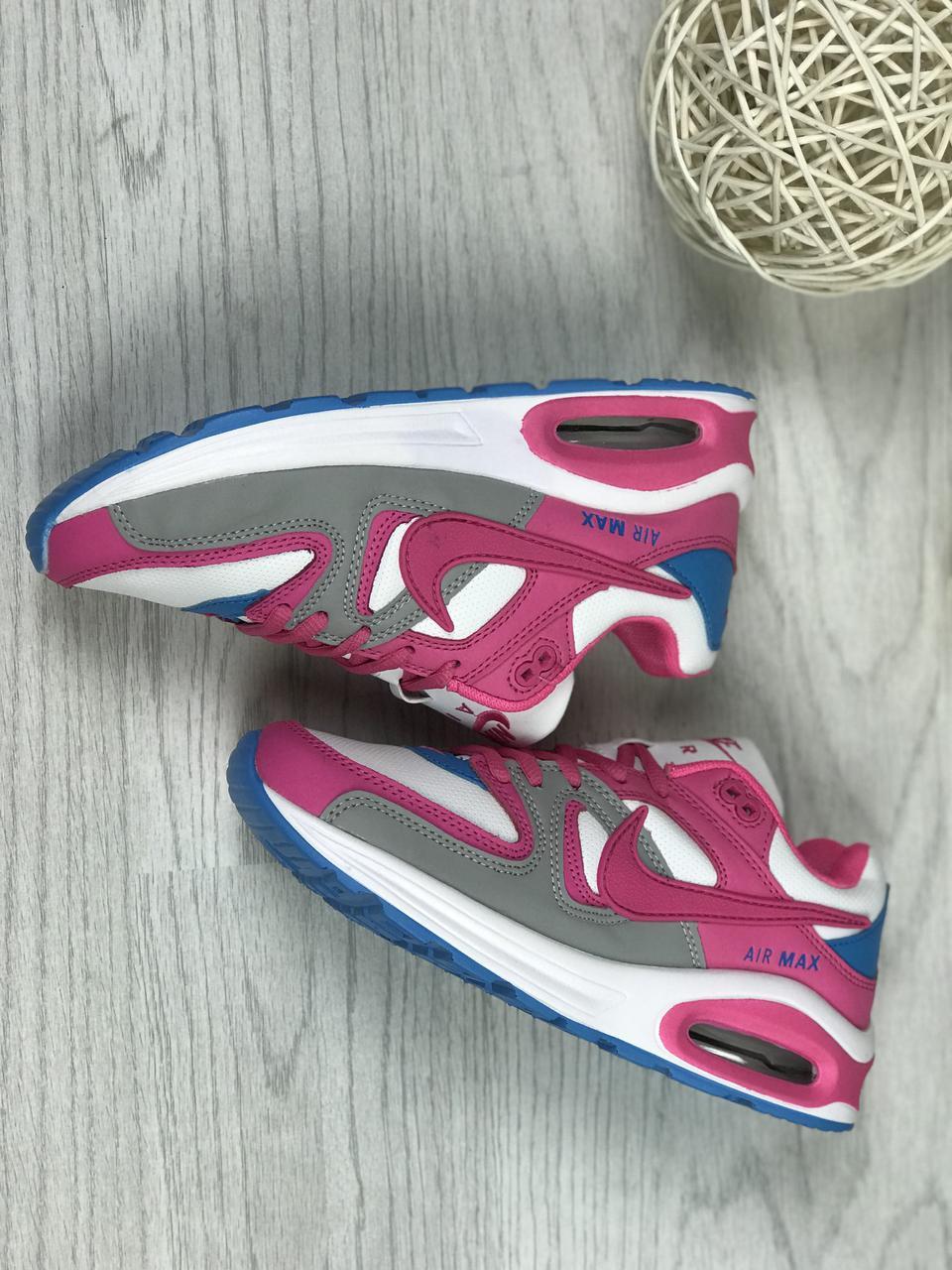 4646b7c2 Женские кроссовки Nike Air Max белые с малиновым (Реплика ААА+) - bonny-