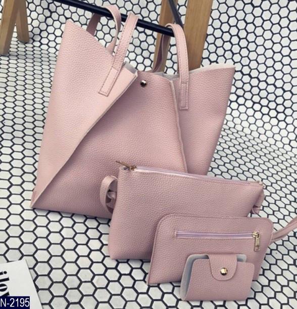 92b6a0830bd1 Набор сумок 4 в 1, розовый: продажа, цена в Днепре. женские сумочки ...