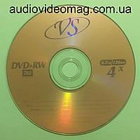 Диск DVD+/-RW VS 4,7 Gb 4x перезаписываемый, для многократной записи