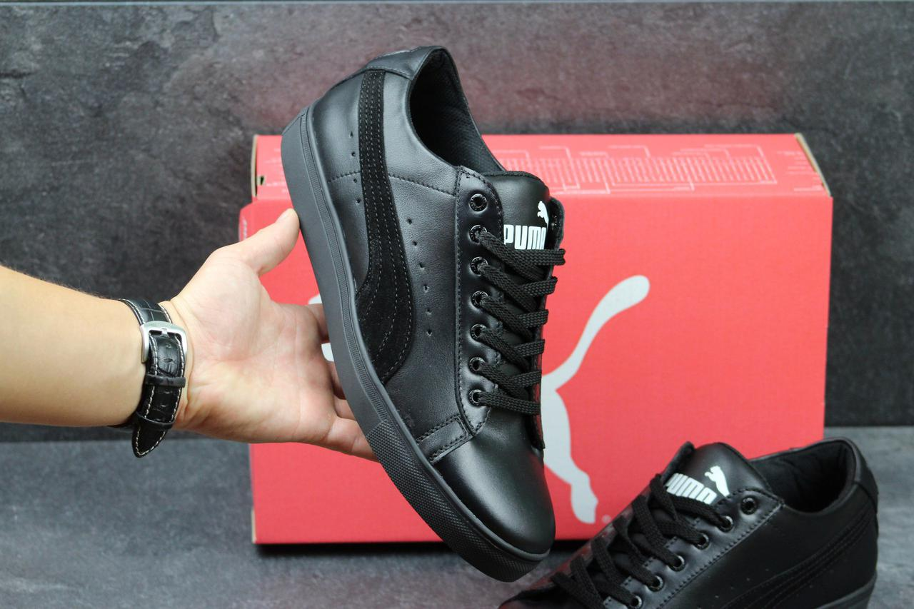 0536c4c343c3 Мужские кроссовки Puma Suede classic кожаные черные (Реплика ААА+) -  bonny-style
