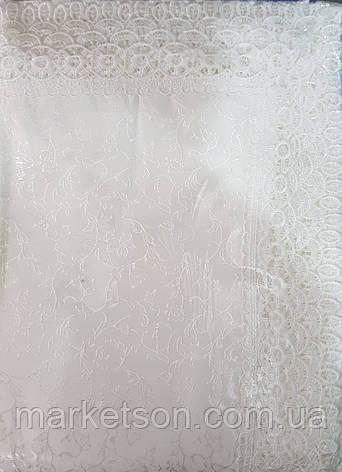 Скатерть прямоугольная 150*220. Белая., фото 2