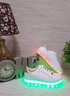 Кроссовки led светящаяся подошва женские белые, фото 1