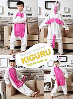 Детская пижама единорог розовая