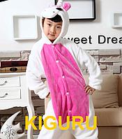 Детская пижама единорог розовая  Унисекс, 130-140 см, Розовый