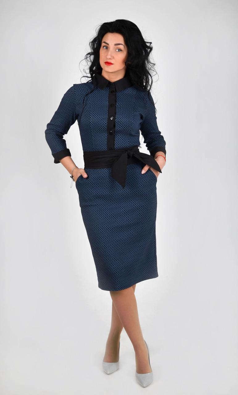 Деловое женское платье. Размеры : 42,44