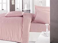 Комплект постельного белья  Clasy сатин Strip размер евро PUDRA