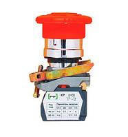 Вимикач кнопковий Промфактор ВК011-КГрК кнопка «грибок» з фіксацією, повернення - поворотом