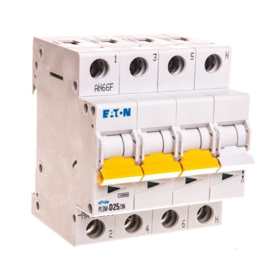 Автоматический выключатель 3P+N D 25A 10kA AC PLSM D25/3N-MW 242568