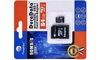 Miсro-SDHC карта памяти 64Gb Amplim  Class10 + SD адаптер 90MB/s