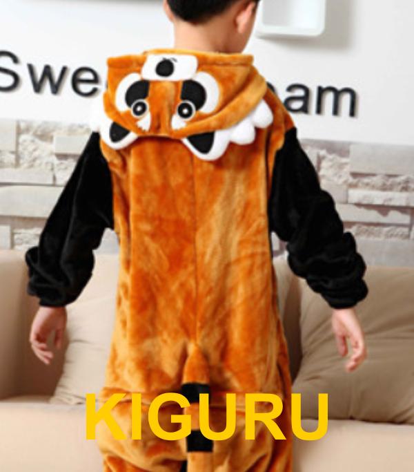 Кигуруми пижама енот детский