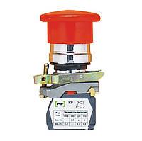 Вимикач кнопковий Промфактор ВК011-НГрК кнопка «грибок» без фіксації