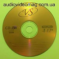 Диск CD-RW VS 700 Mb 12x 80min перезаписываемый, для многократной записи