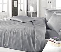 Комплект постельного белья  Clasy сатин Strip размер евро GRI