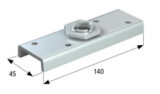 Пластина на потшипнике для кареток (54 мм.) резьба 20 мм.