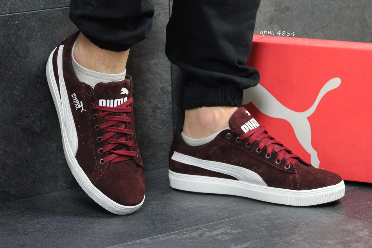 c529dd67a2cb Мужские кроссовки Puma Suede бордовые натуральная замша (Реплика ААА+) -  bonny-style