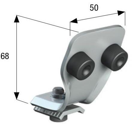 Концевой упор для остановки кареток 54 мм.