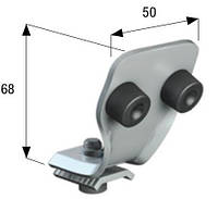 Концевой упор для остановки кареток 54 мм., фото 1