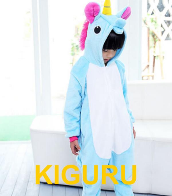 Пижама кигуруми пони голубой детский