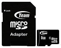 Карта памяти Team MicroSDHC 8GB Class 10+SD adapter