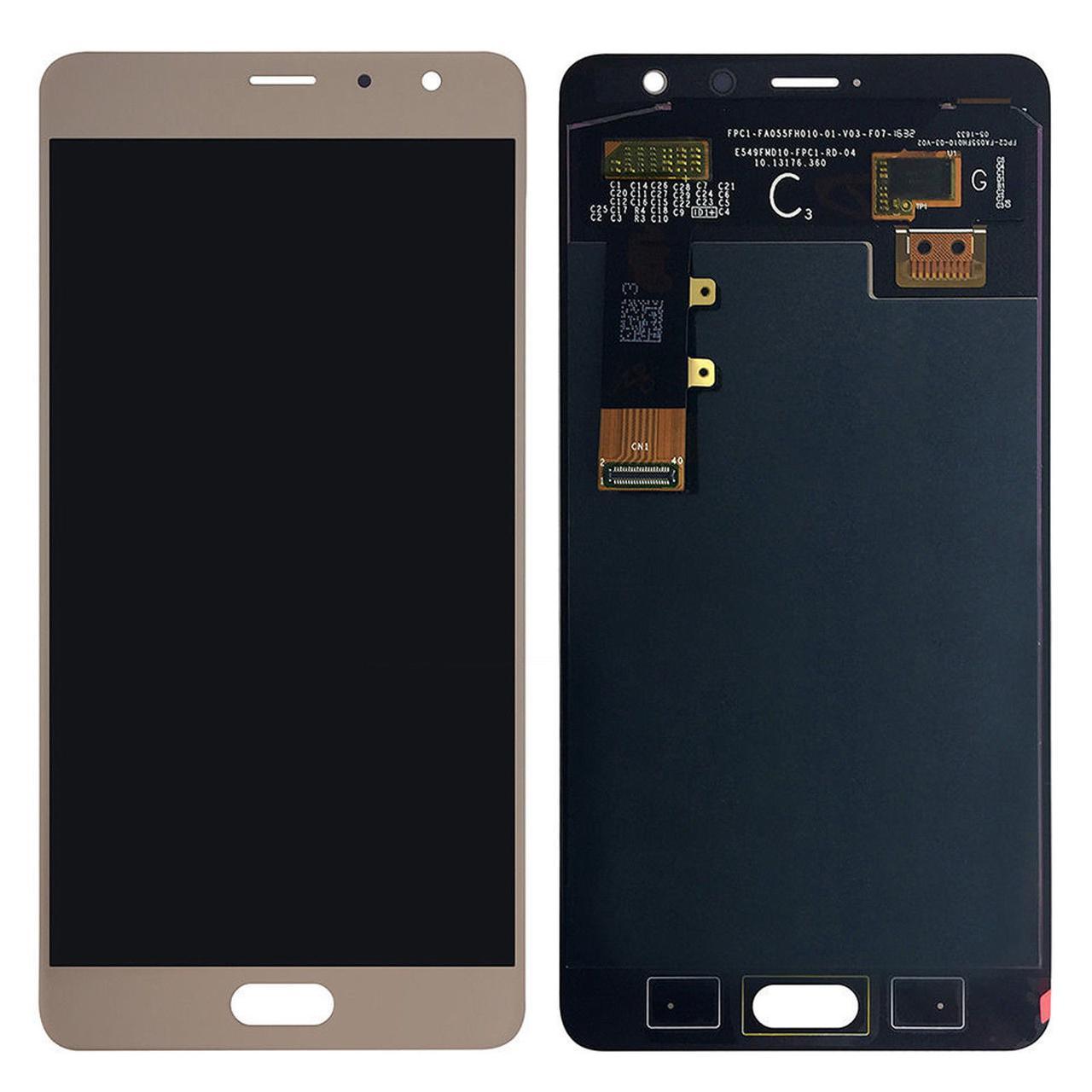 Дисплей (экран) для Xiaomi Redmi Pro с сенсором (тачскрином) золотистый