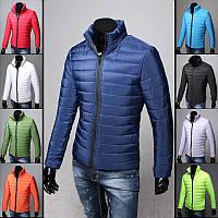 Лёгкая мужская демисезонная куртка на синтепоне весна осень
