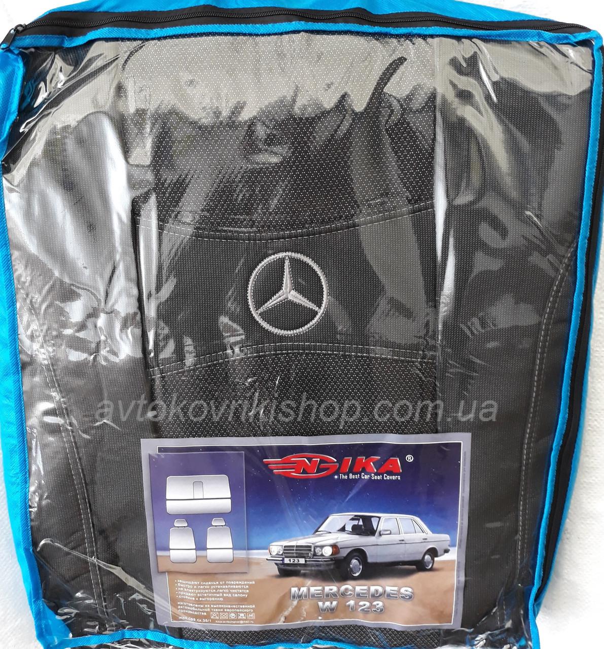 Авточехлы Mercedes-Benz W123 1976-1985 Nika