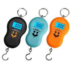 Електронний кантер (ваги ручні) смайлик від 0,01 до 50 кг Portable electronic scale