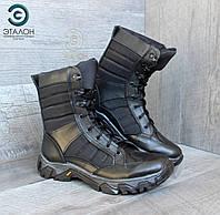 Ботинки женские кожаные черные ARS-3 демисезонная тактическая обувь