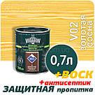 VIDARON Импрегнат Защитно-Декоративная пропитка  9,0лт Золотая сосна, фото 3