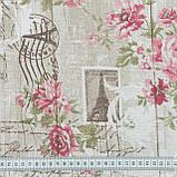 Декоративная ткань  агата / почта парижа,беж,розовый 146552, фото 3