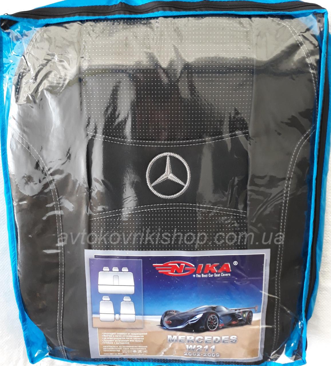 Авточехлы Mercedes-Benz W211 2002-2009 Nika