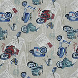 Декоративная ткань веспа /vespa fdo/ мотоциклы 143260, фото 2