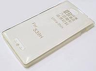 Чехол силиконовый ультратонкий для Sony Xperia C C2305 s39h прозрачный